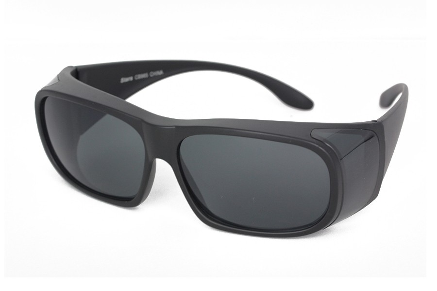 Sort fit-over solbrille - sunlooper.no - billede 2