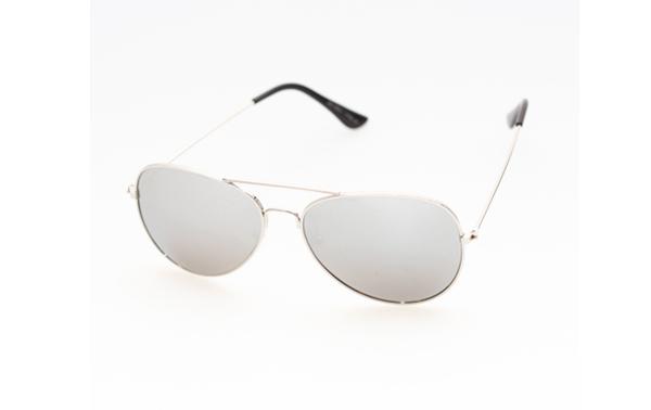 4f65ffc3b2b0 Sølv aviator pilot solbriller med speilglass