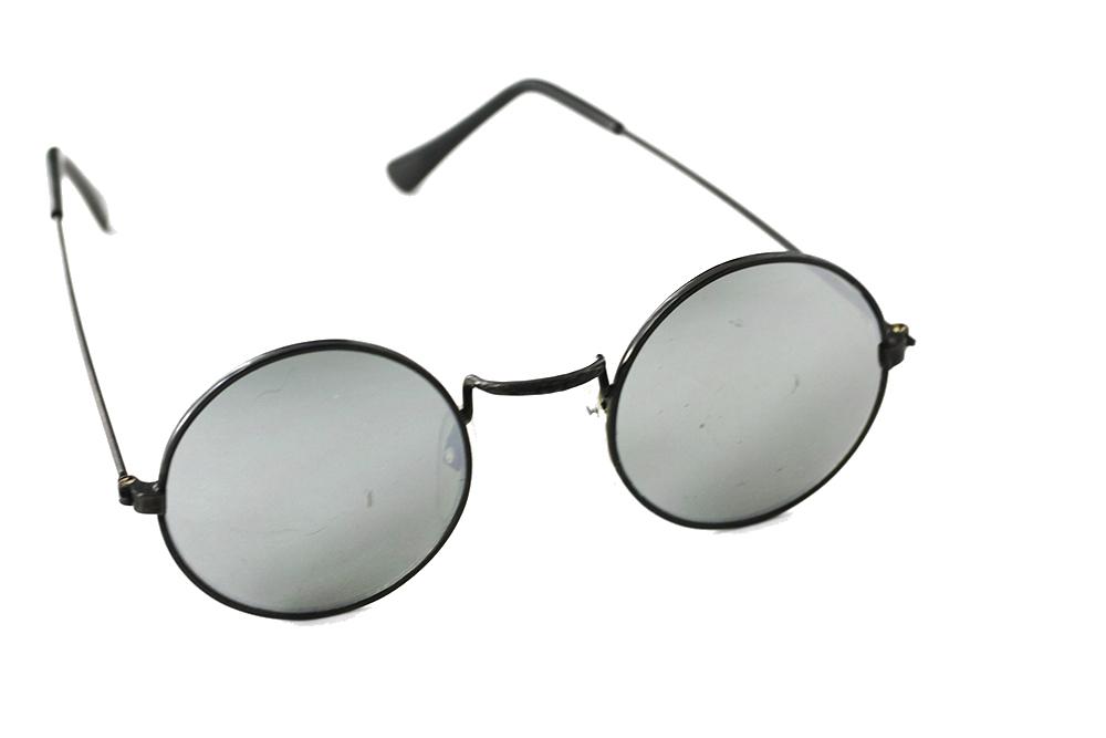 1405bdc230a1 Runde solbriller i metall med speilglass