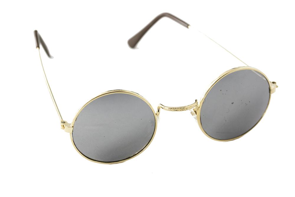 069aab9b6866 RRunde solbriller med metall ramme og speilglass