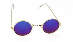 59c5a93f574b Gullfarget metall solbriller til barn - Design nr. 3109